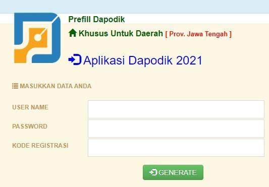 Cara Download-Generate Prefill Dapodik Versi 2021 Tahun Pelajaran 2020-2021
