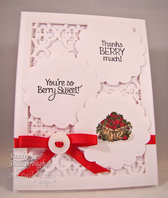 Our Daily Bread Designs, Strawberries, Garden Minis set, Quatrefoil Pattern Dies, Sandee Shanabrough