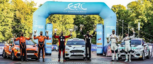 Rally Liepaja ERC3 Podium Celebrations