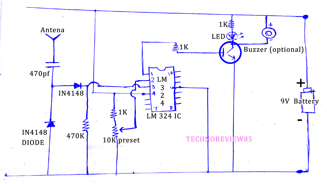 Cell Phone Detector Or Emf Detector Circuit