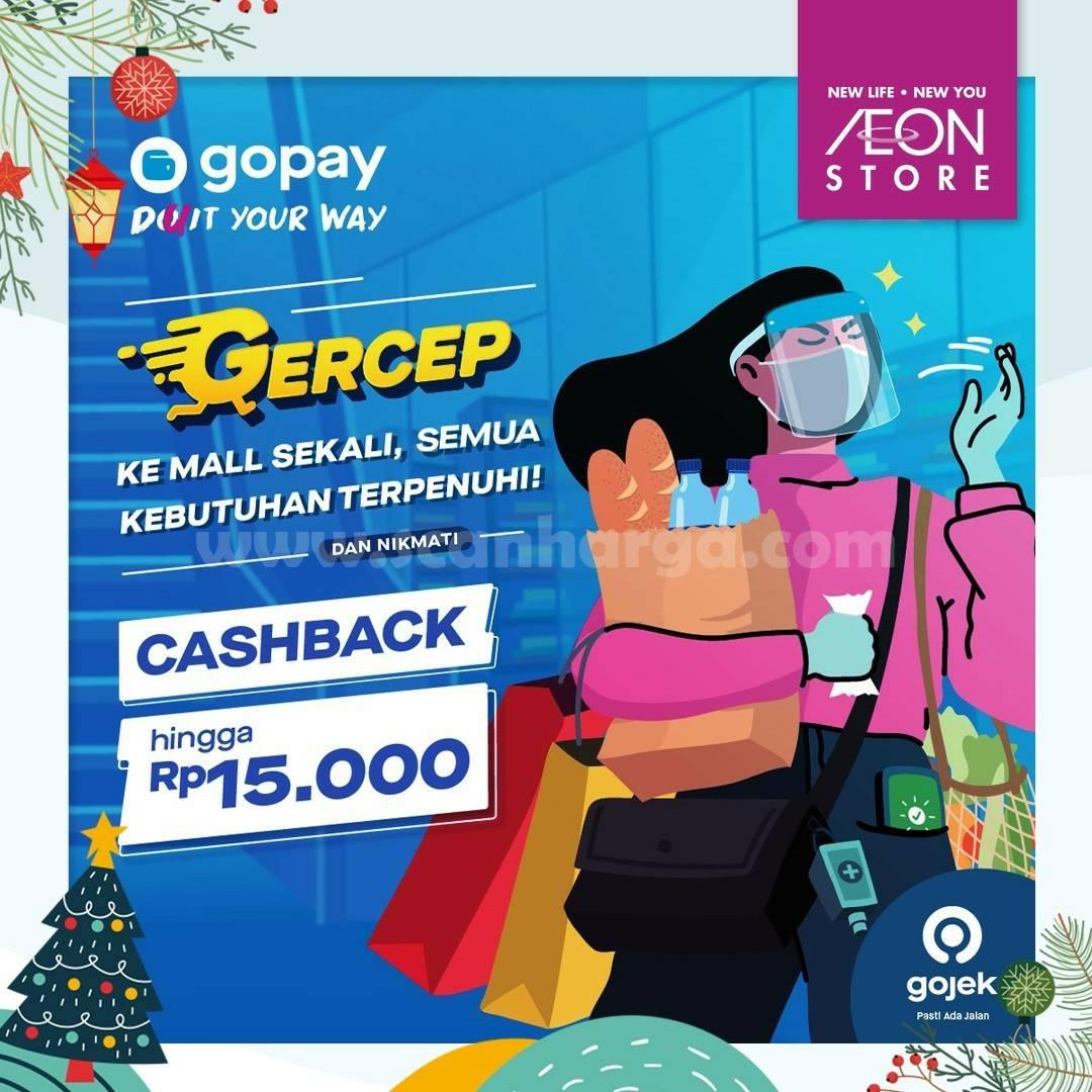 AEON Store Promo Cashback Rp 15.000 menggunakan GOPAY