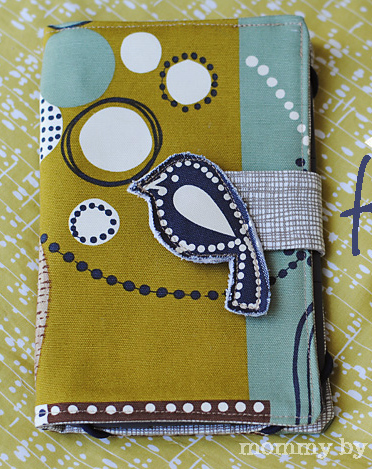 image tutorial diy kindle cover case fabric bird mommy by day crafter by night sewn sewing