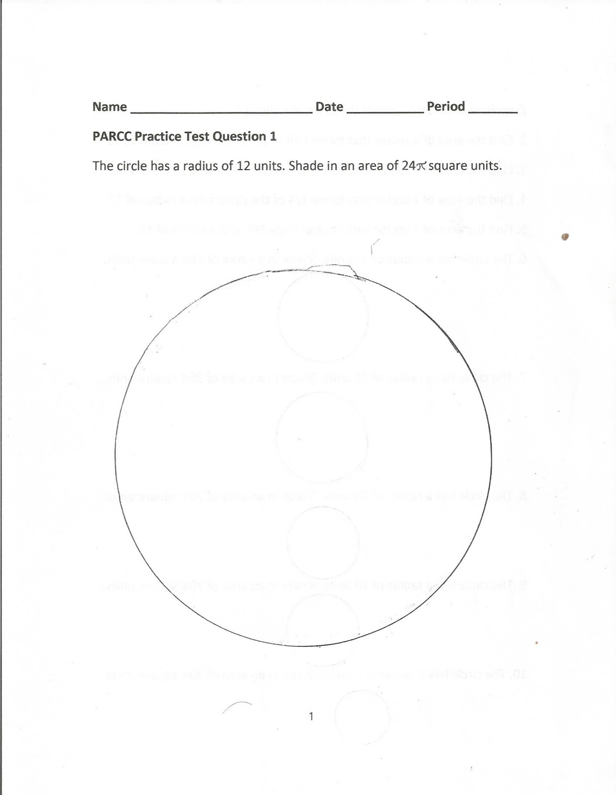 Geometry Common Core Style Parcc Practice Test Question 1 Day 144