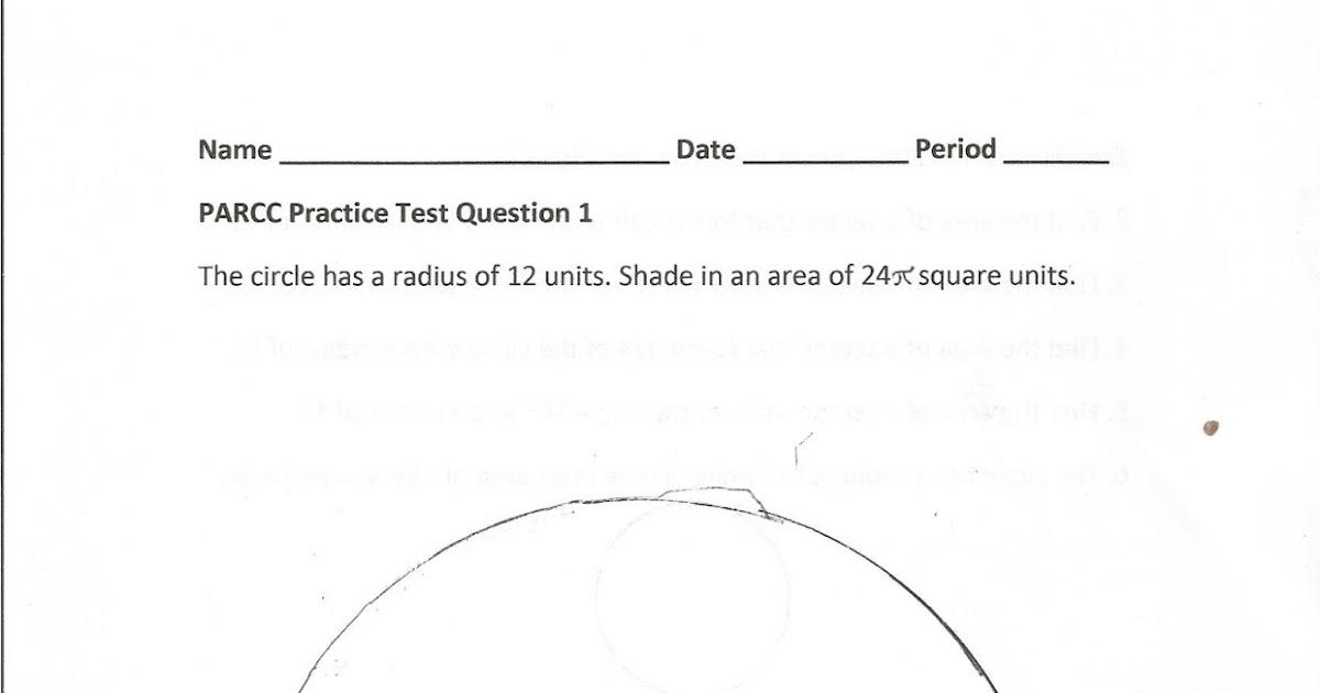 Geometry, Common Core Style: PARCC Practice Test Question 1