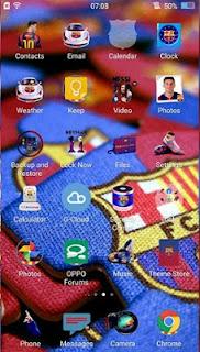 Tema Barcelona untuk Oppo