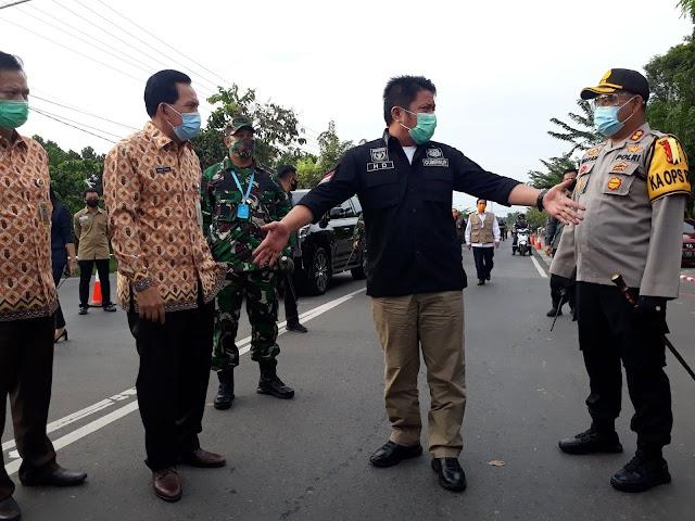 Gubernur Sumsel Tinjau Penerapan PSBB Kota Prabumulih