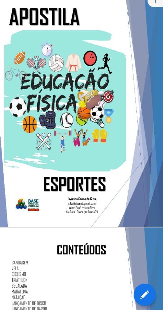 APOSTILA DE EDUCAÇÃO FÍSICA - SÓ ESPORTES