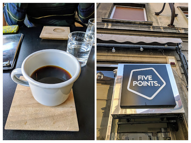 Bratislava in January: drink coffee at Five Points