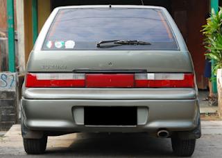 Tampilan Belakang Suzuki Eleny