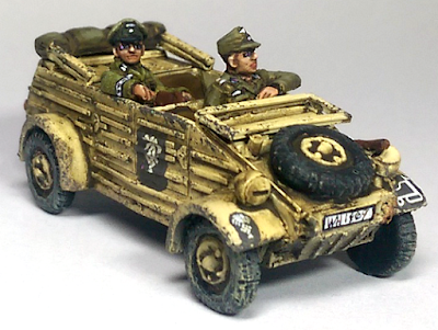 Perry Miniatures GWW5 Kubelwagen and Staff Officer