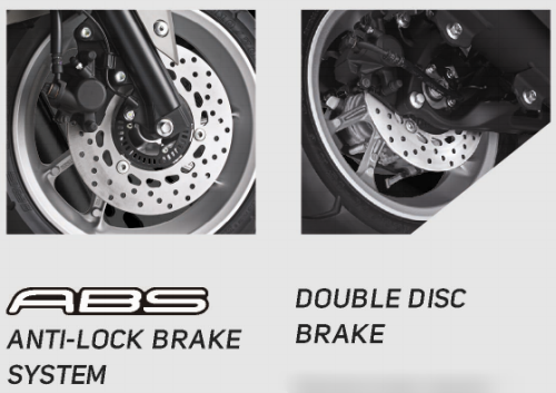 Yamaha NMAX - ABS (Anti Lock Brake System) dan Double Disc Brake