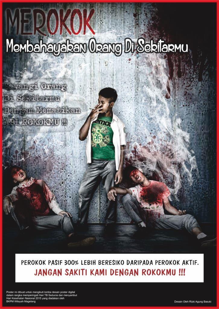 Contoh Poster Bahaya Merokok Karya Desain Grafis