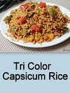 Tri Color Capsicum Rice