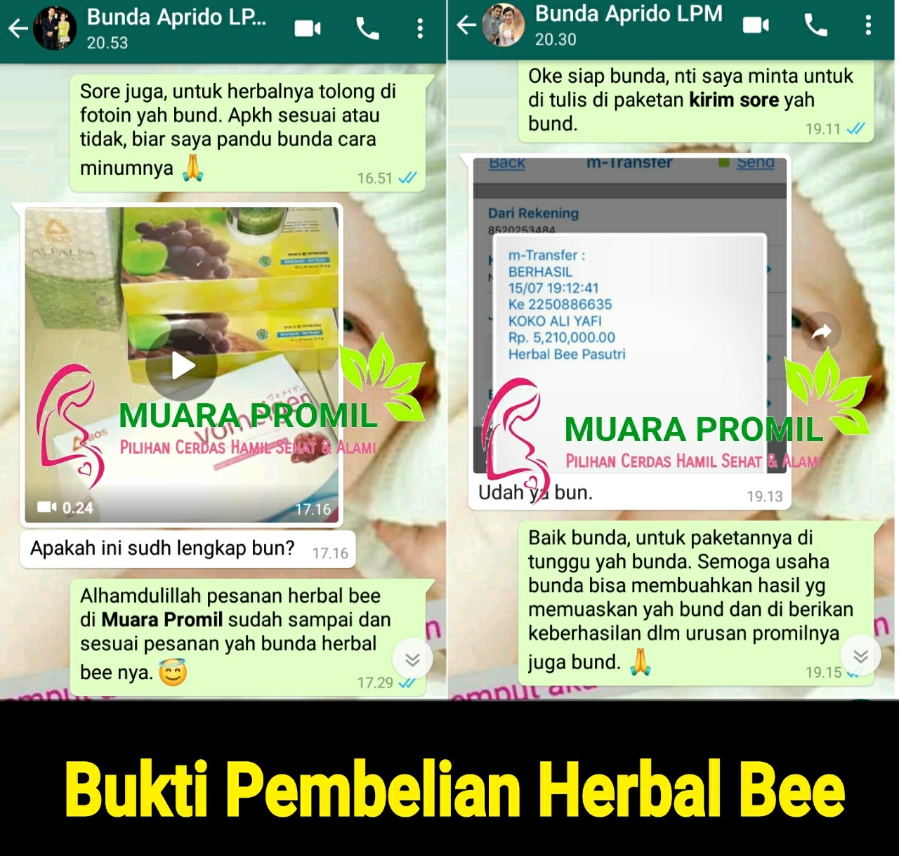 Bukti Penjualan Herbal Bee di Medan