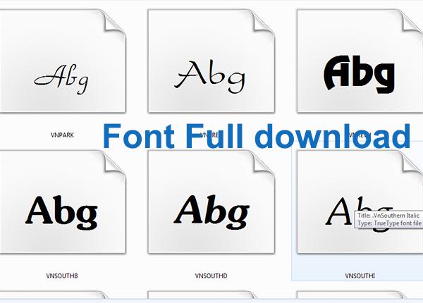 Tải Font full - Download bộ font tiếng Việt full đầy đủ miễn phí a