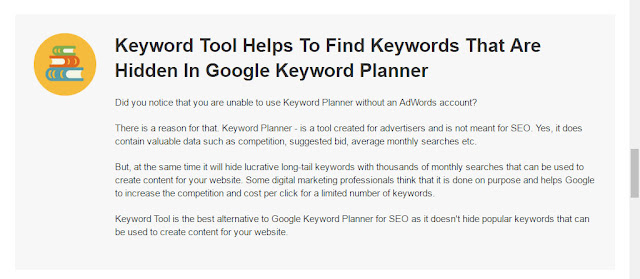 what is the keyword research tool which helps you to find keywords which are hidden in google keyword planner?