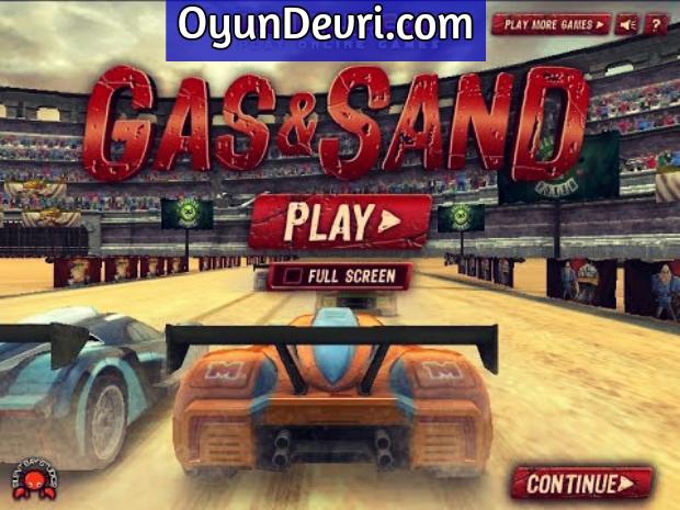 Gaz ve Kum Araba Yarışı Oyunu