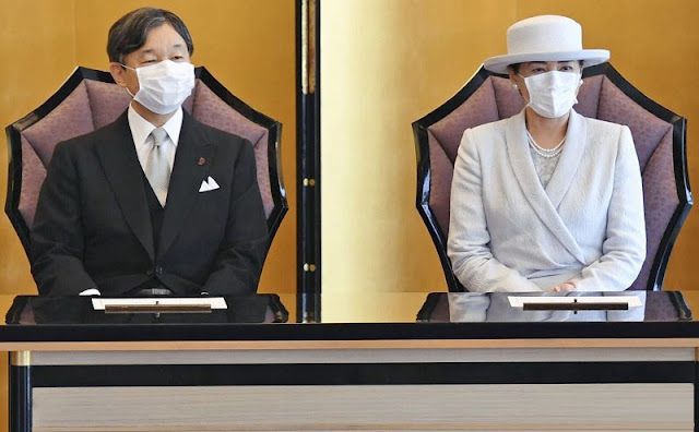 Emperor Naruhito and Empress Masako attended the award ceremony of the 76th and 77th Japanese Academy of Arts Prize