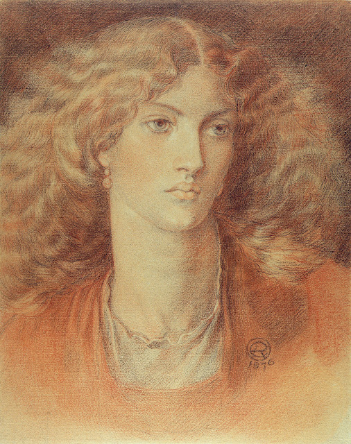 1876. Dante Gabriel Rossetti - Head of a Woman