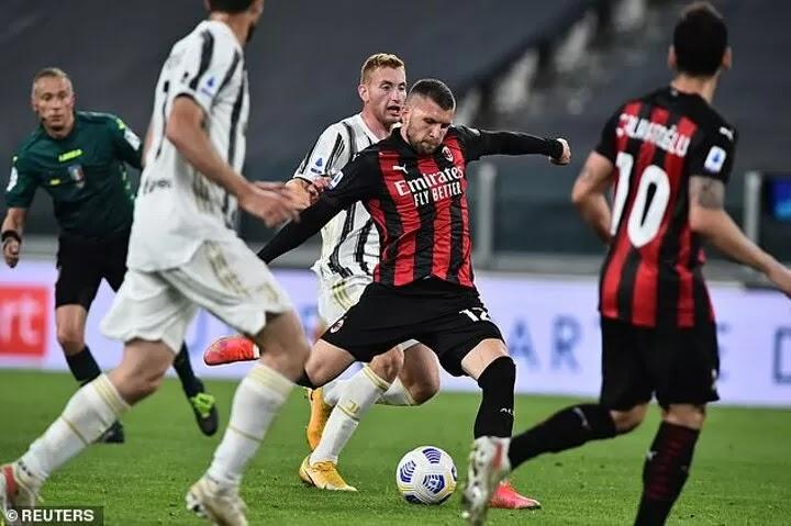 Rebic scores stunner to dent Juventus hopes of UCL next year