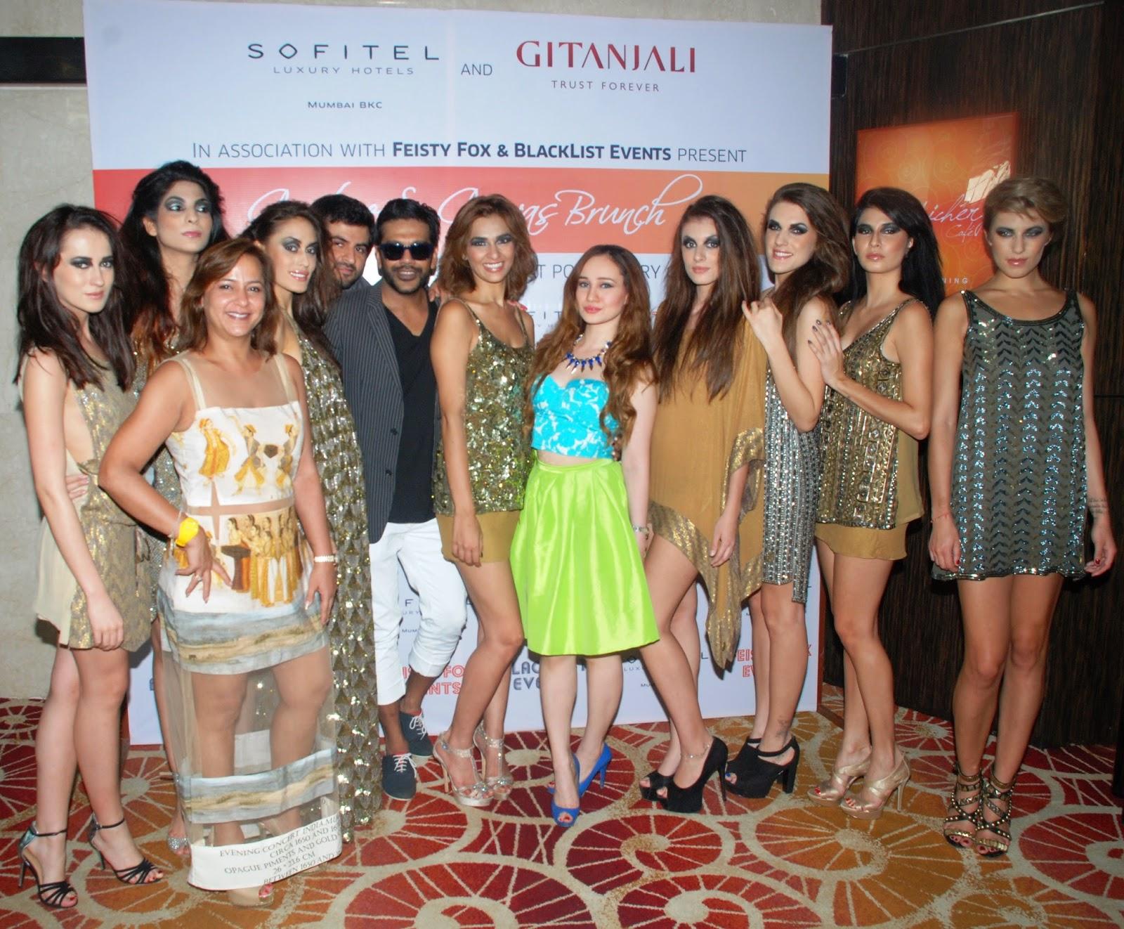 Rocky Star,Atiya Goni ,Stephanie Timmins Couture & Canvas Brunch at Sofitel,BKC