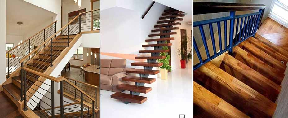 Papan tangga kayu minimalis