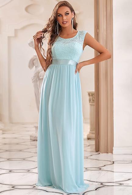Elegant Lace Chiffon Bridesmaid Dresses