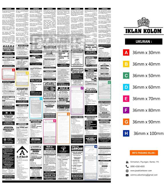 contoh iklan kolom di koran