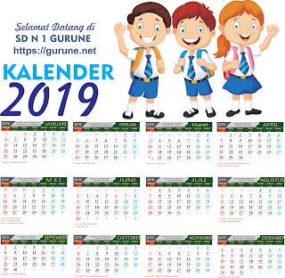 Cara Membuat Desain Kalender 2019 Untuk Guru atau Siswa dan Download Gratis Vector Kalender 2019 Cdr