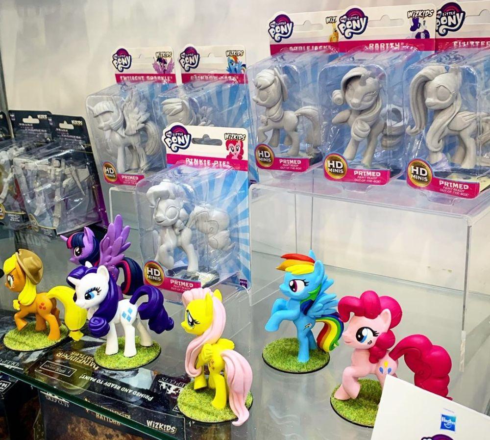 Фигурки пони для раскрашивания My Little Pony Primed новинки игрушек 2020