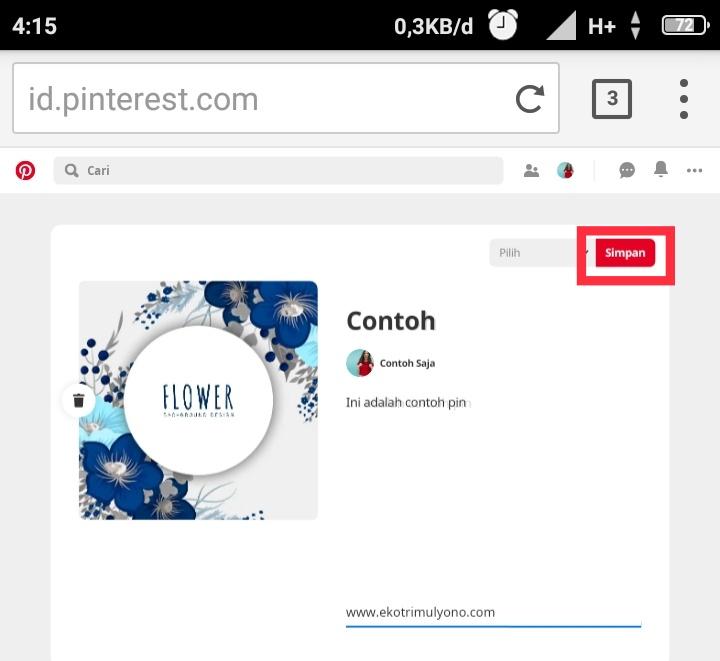 Cara menggunakan Pinterest di Android