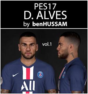 PES 2017 Faces Dani Alves by BenHussam