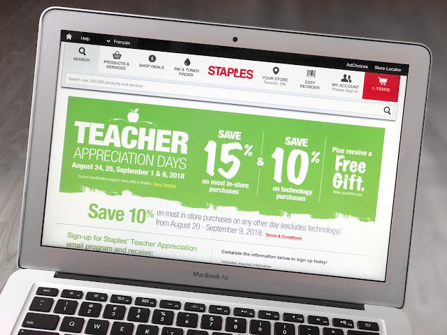 Staples Teacher Appreciation Days 2018