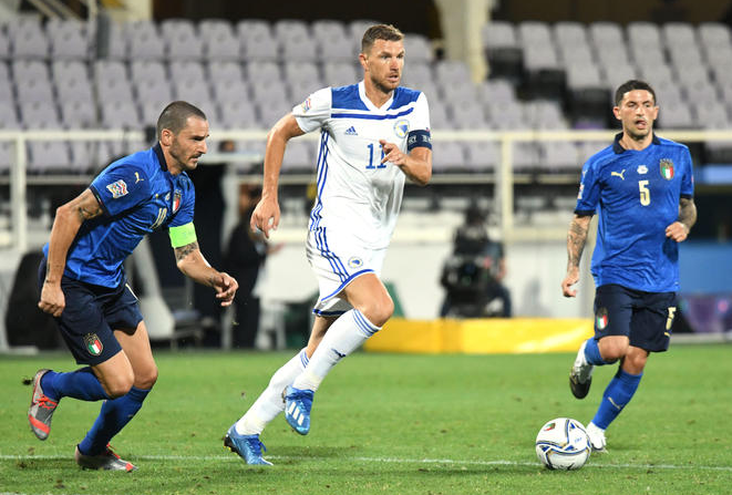 Nations League, Italia-Bosnia 1-1: Sensi risponde a Dzeko