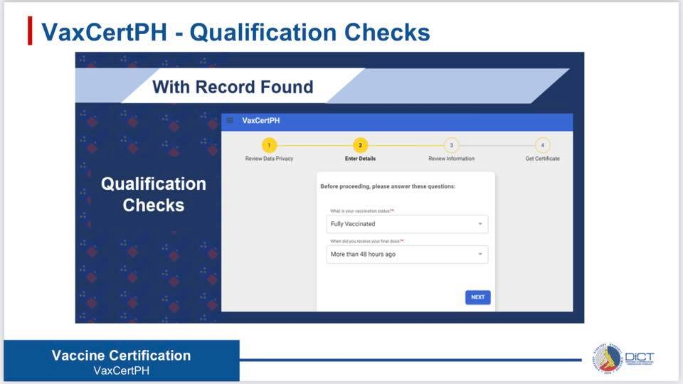 VaxCertPH Qualification Check