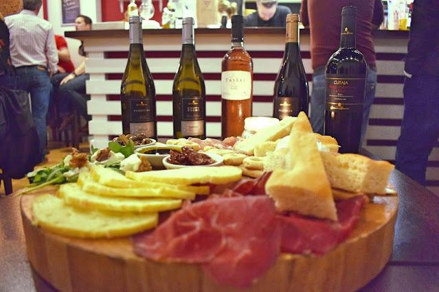 Italian wine tasting at Veeno Leeds The spuntini platter
