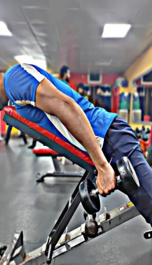 Best Exercises For Triceps, Incline tricep kickbacks