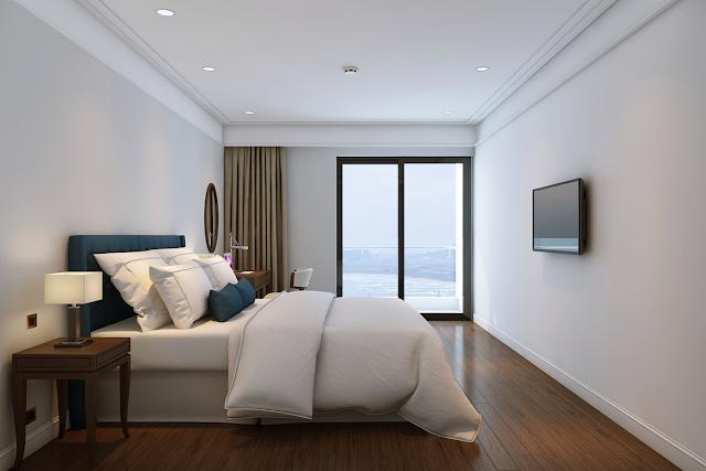 Phòng ngủ căn hộ mẫu dự án Luxury Apartment