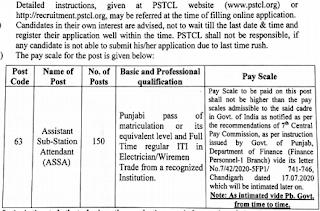 PSTCL ASSA Recruitment 2021