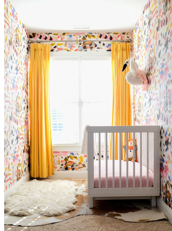 A Bright and Colorful Nursery-design addict mom