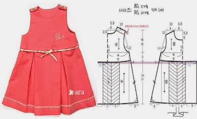 летнее платье для девочки с выкройкой