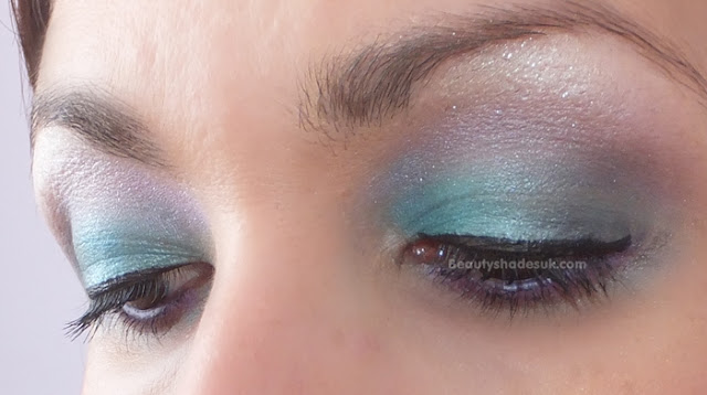 Blue and purple make up