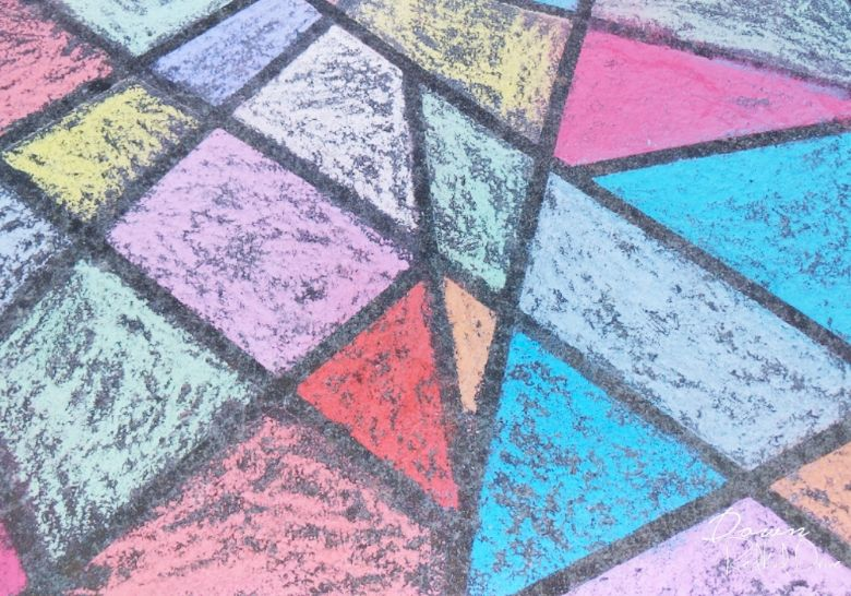 mosaic sidewalk chalk ideas