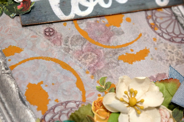 Rust Effect Stenciled Background by Dana Tatar for Scraps of Darkness Kit Club - May 2017