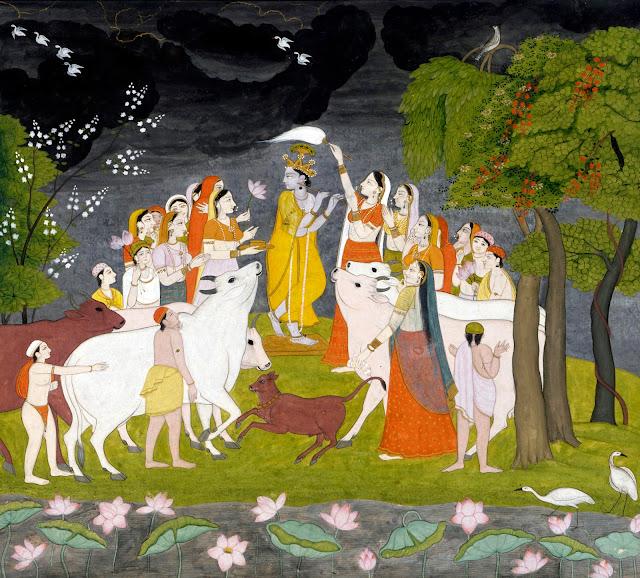 Krishna and gokula
