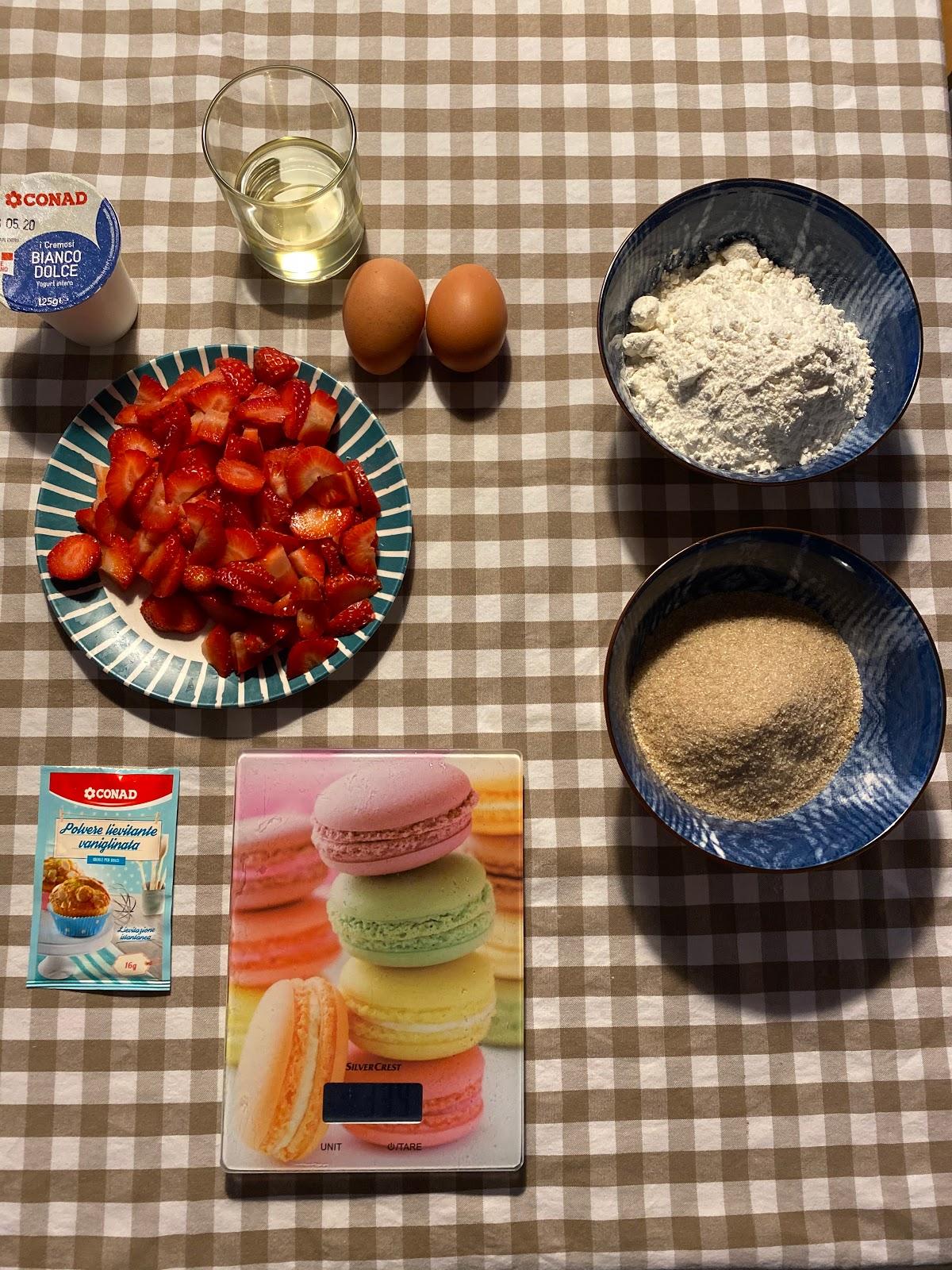 plumcake fragole e limone