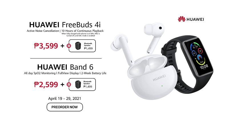 Huawei FreeBuds 4i and Huawei Band 6 now open in PH