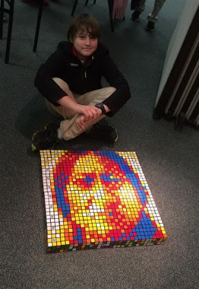 Greenville young man creates algorithm to produce Rubiks Cube mosaic