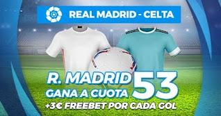 Paston Megacuota Real Madrid vs Celta 2-1-2021