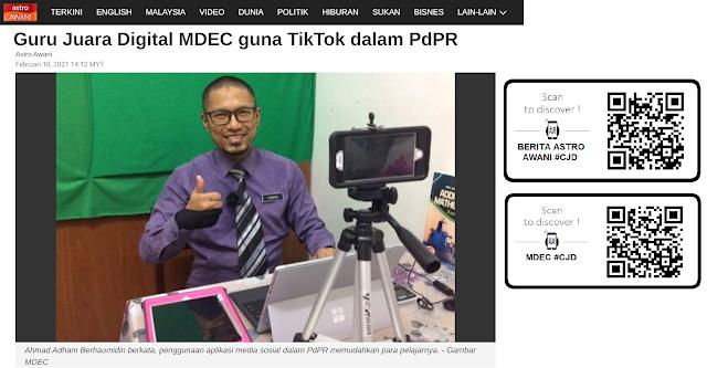 Perkongsian Media: Guru Juara Digital MDEC guna TikTok dalam PdPr
